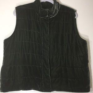 Eileen Fisher Quilted velvet vest